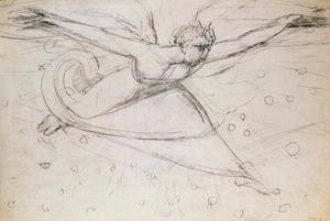 William Blake - An Angel Striding Among the Stars
