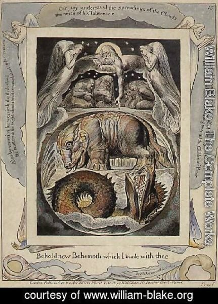 William Blake - Behemoth and Leviathan from the Book of Job