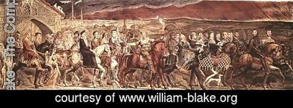 William Blake - Chaucer's Canterbury Pilgrims 1810