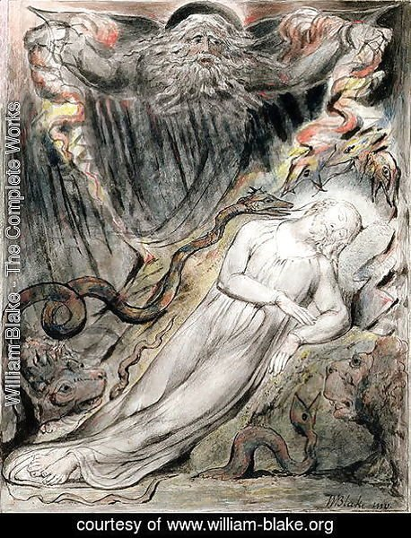 William Blake - Christ's troubled sleep from Milton's 'Paradise Regained', Book IV lines 401-25, c.1816-18