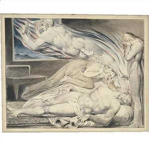William Blake - Death of the strong wicked man (The strong wicked man dying)