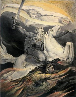 William Blake - Death on a Pale Horse, c.1800