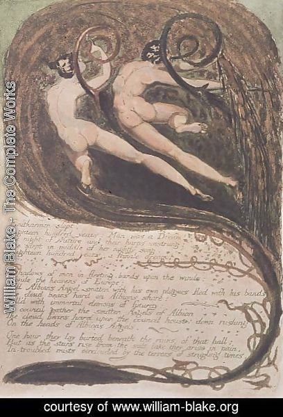 William Blake - Europe a Prophecy- 'Entharmon slept', Mildews Blighting Ears of Corn, c.1794