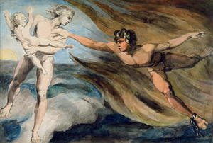 William Blake - Good and Evil Angels Struggling for the Possession of a Child, c.1793-94