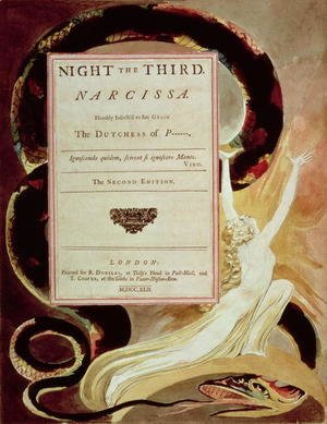Illustration from Young's Night Thoughts, Night III, Narcissa