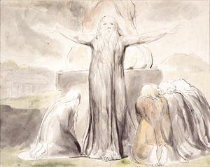 William Blake - Job's Sacrifice- And my servant Job shall pray for you