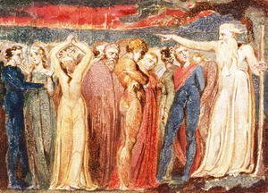 William Blake - Joseph of Arimathea preaching to the inhabitants of Britain