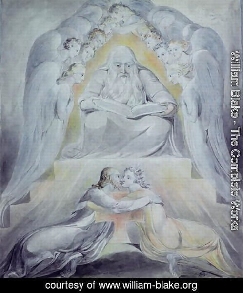 William Blake - Mercy and Truth are met together, Righteousness and Peace have kissed each other