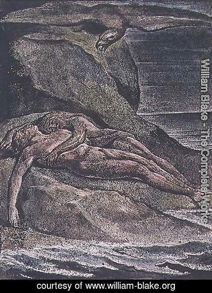 William Blake - Milton a Poem- Albion on the rock, 1804