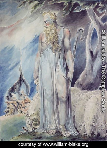 William Blake - Moses and the Burning Bush