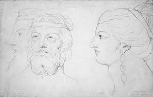 William Blake - Pindar and Lais, 1820