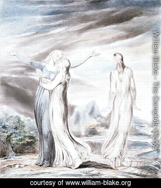 William Blake - Ruth parting from Naomi, 1803