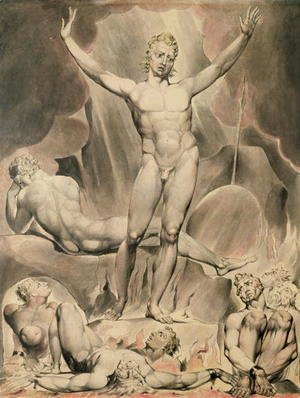 William Blake - Satan Arousing the Rebel Angels, 1808