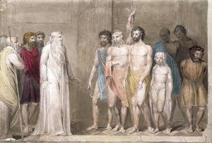 William Blake - St. Gregory and the British Captives