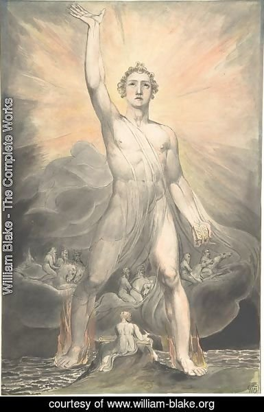 William Blake - The Angel of Revelation, c.1805