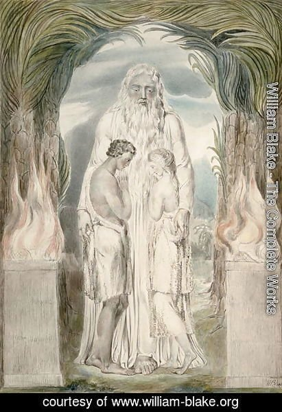 William Blake - The Angel of the Divine Presence