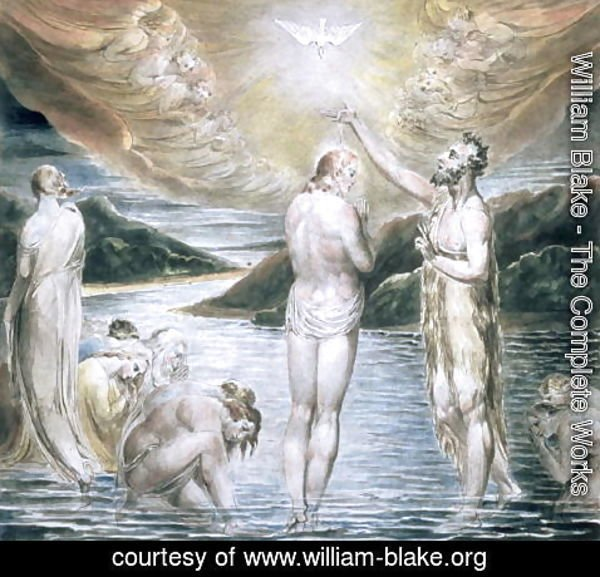 William Blake - The Baptism of Christ