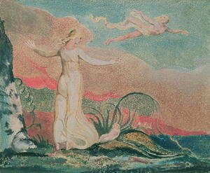 William Blake - The Book of Thel; Plate 4 Thel in the Vale of Har, 1794