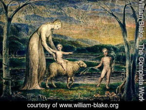 William Blake - The Christ Child riding on a Lamb
