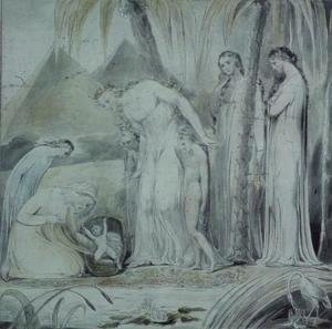 William Blake - The compassion of Pharaoh's Daughter or The Finding of Moses