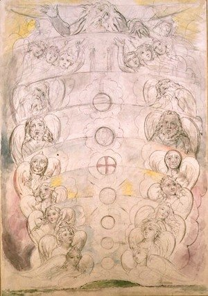 William Blake - The Deity from Whom Proceed the nine Spheres