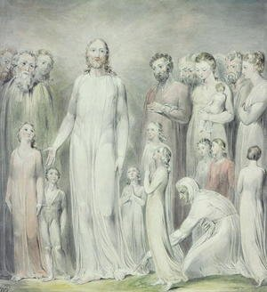 William Blake - The Healing of the Woman with an Issue of Blood, 1808