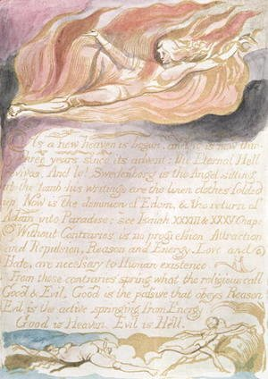 William Blake - The Marriage of Heaven and Hell- 'As a new heaven is begun', c.1790