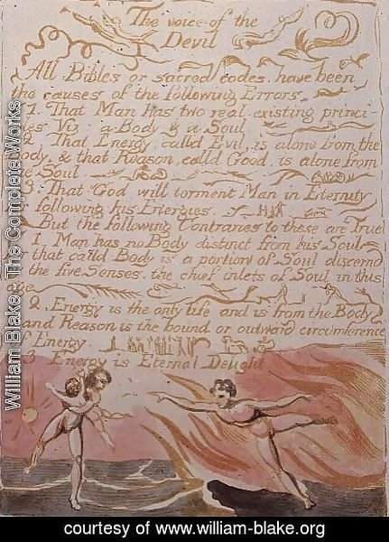 William Blake - The Marriage of Heaven and Hell- The Voice of the Devil, c.1790