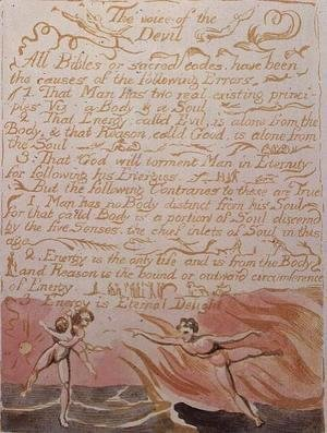 The Marriage of Heaven and Hell- The Voice of the Devil, c.1790