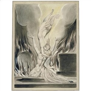William Blake - The reunion of the soul and the body (The re-union of soul and body)