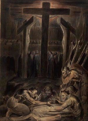 William Blake - The Soldiers Casting Lots for Christ's Garments, 1800