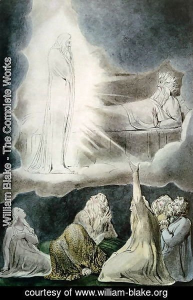 William Blake - The Vision of Eliphaz, 1825