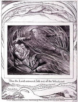 William Blake - 'Then the Lord Answered Job out of the Whirlwind' 1825