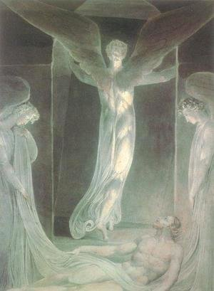 William Blake - Angels Rolling Away the Stone from the Sepulchre