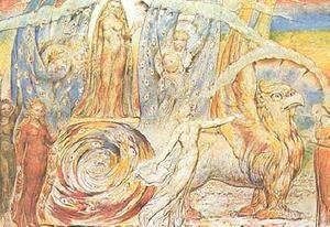 William Blake - Beatrice Addressing Dante