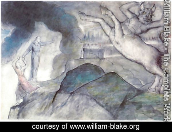 William Blake - Inferno, Canto XII, 12-28, The Minotaur (Seventh Circle)