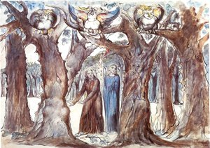 William Blake - Inferno, Canto XIII, 1-45, The Wood of Self-Violators: The Harpies and the Suicides