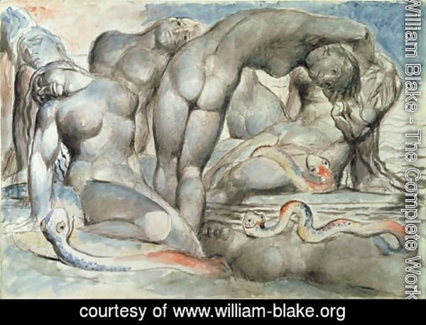 William Blake - Inferno, Canto XXIV, Thieves