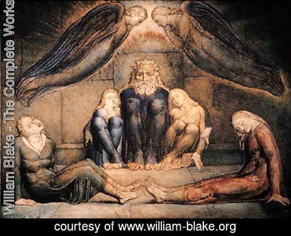 William Blake - Inferno, Canto XXXIII, 13-93, Count Ugolino and his sons in prison