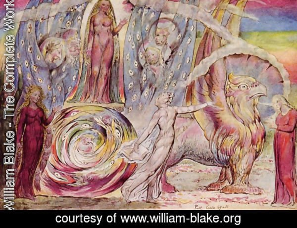 William Blake - Purgatorio, Canto XXX, 60-146 Beatrice Addressing Dante