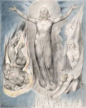 William Blake - Christ on the Pinnacle of the Temple