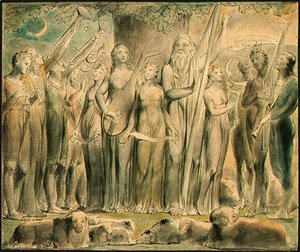 William Blake - Job and His Family Restored to Prosperity