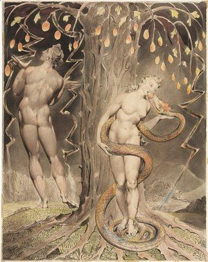 William Blake - The Temptation and Fall of Eve