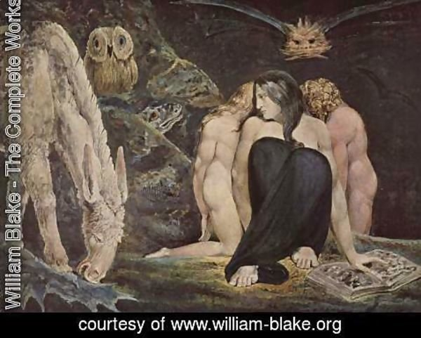 William Blake - Hecate Or The Three Fates 1795