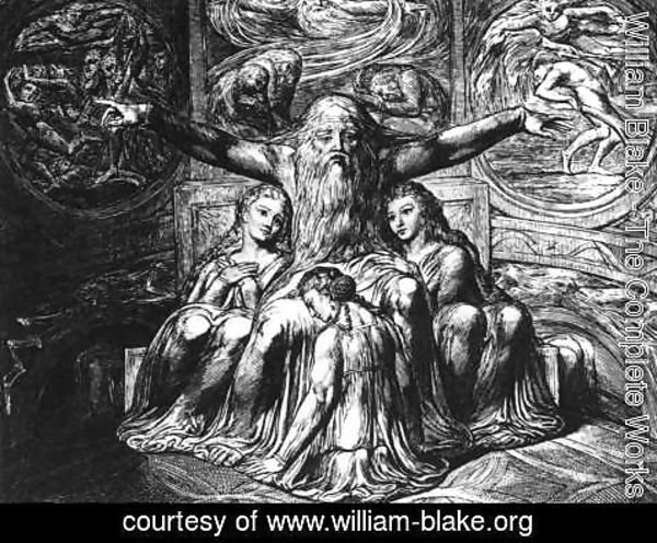 William Blake - Job And His Daughters 1823-26