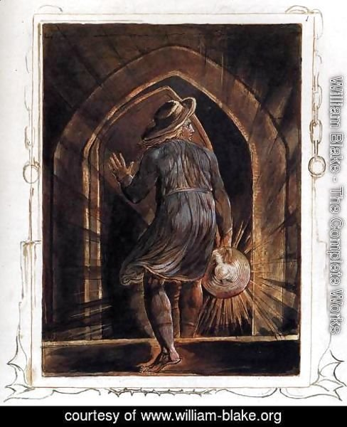 William Blake - Los Entering The Grave
