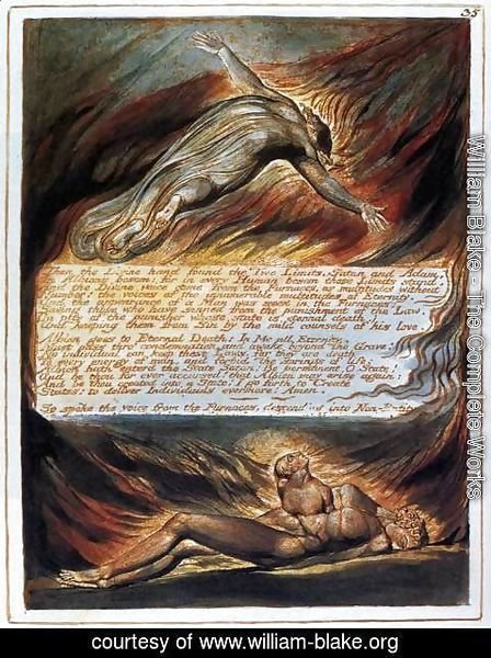 William Blake - The Descent Of Christ
