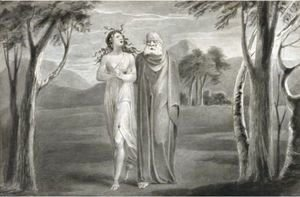 William Blake - Tiriel Led By Hela