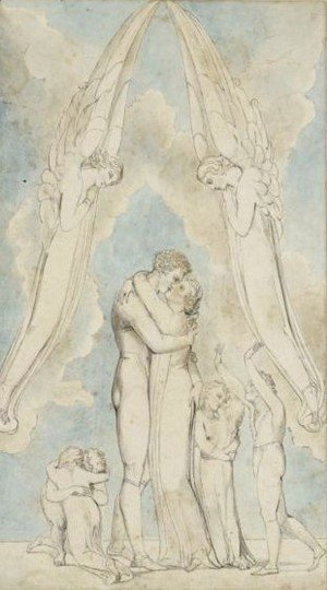 William Blake - The Meeting Of A Family In Heaven