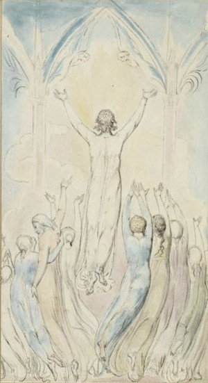 William Blake - Heaven's Portals Wide Expand To Let Him In
